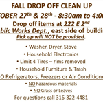Fall Drop Off Clean Up