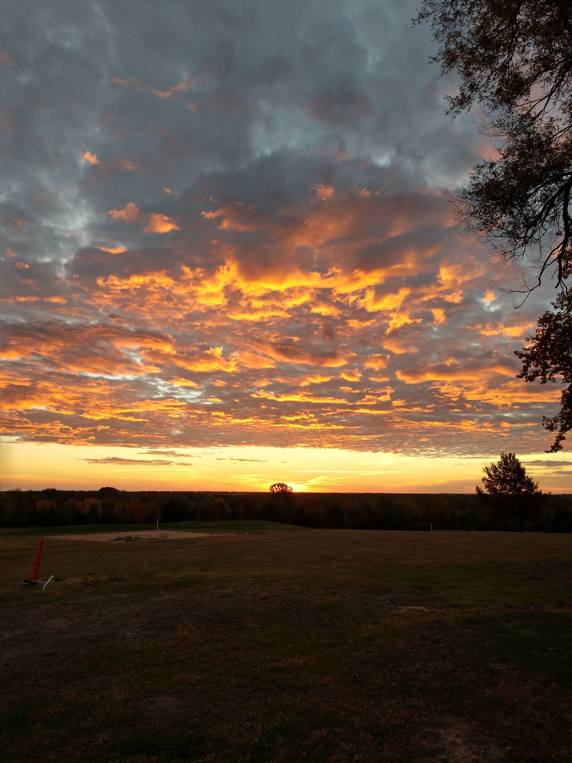 Fall Sunset at the Golf Course