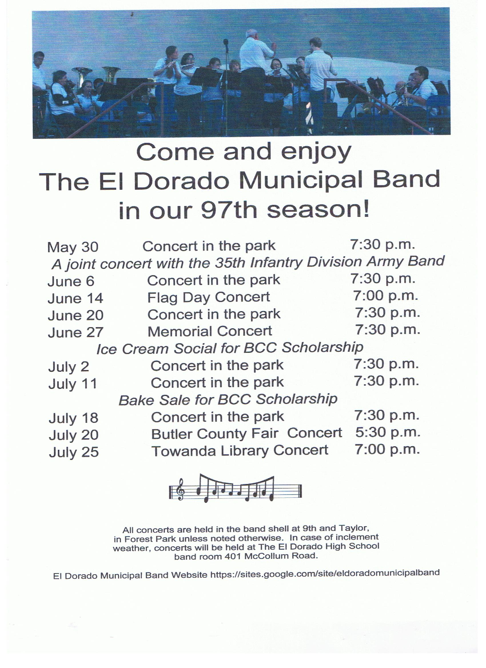Municipal Band Flyer 2019