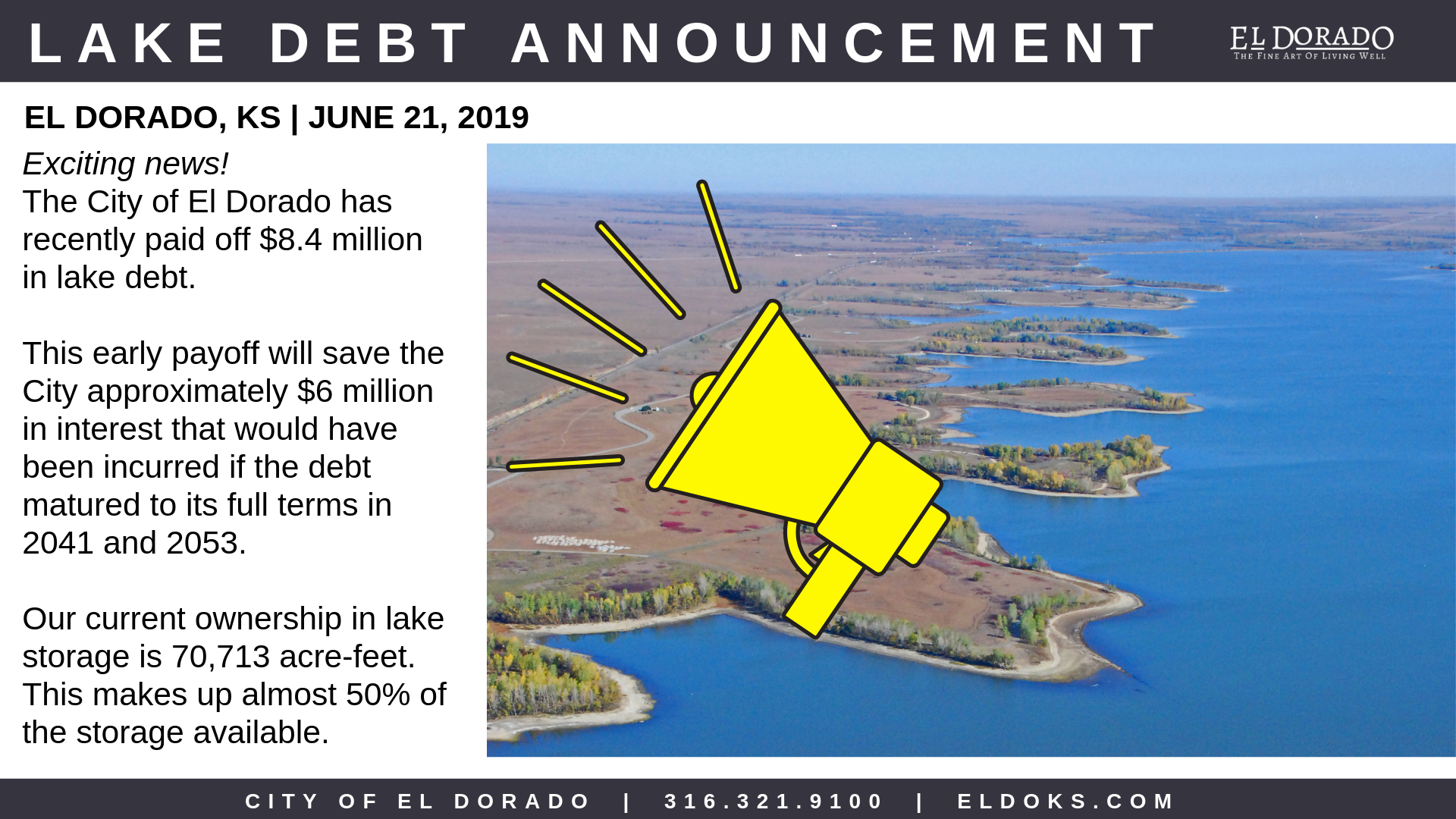 Lake Debt Announcement 6.21.19
