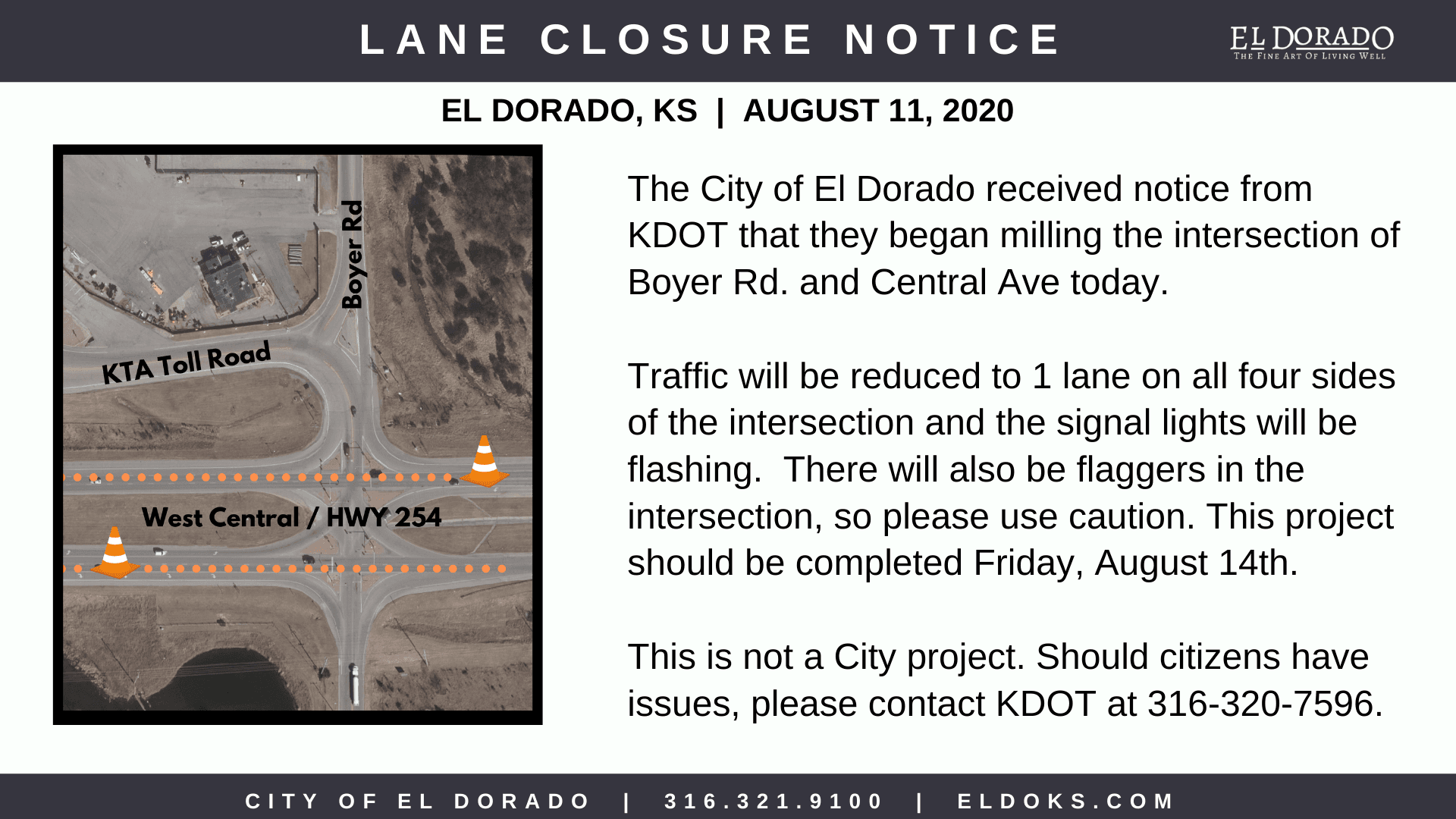 Boyer and Central Road Work