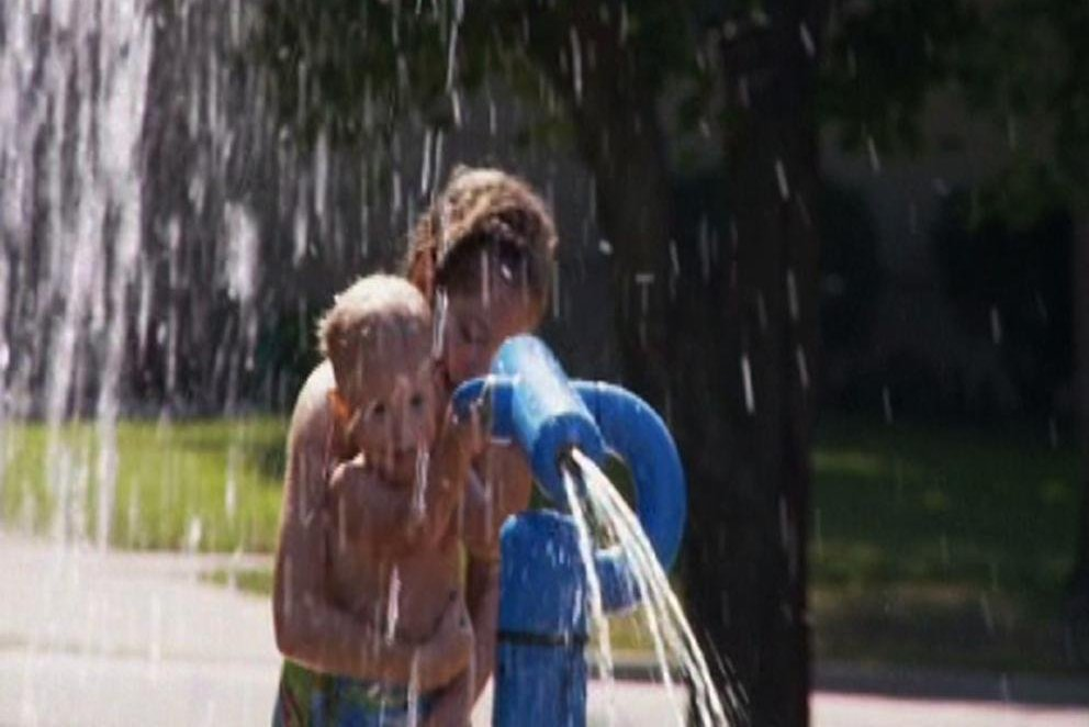 Kids Playing at the Spray Park