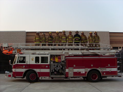 Reserve Firefighters and Truck