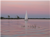 Sail Boat in a Pink Sunset