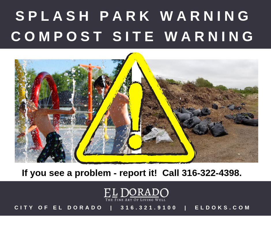 splash park and compost site warning - homepage pic