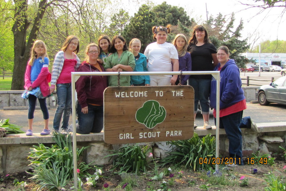 Girl Scouts Completed Plantings